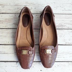 GIANI BERNINI Memory Foam Loafers Tan Size 7